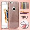 Buy Ultra Thin Clear Crystal Rubber Glitter Plating Electroplating TPU Soft Cover Case iPhone 7 Plus 6S 6 SE 5S 5 Samsung Note S7 Edge S6