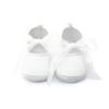 Buy Delebao Pure White Christening Baptism Lace Butterfly-knot Lace-up Shallow Soft Sole First Walkers Baby Girl Shoes 0-12 Months