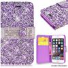 Buy Samsung Galaxy S7 Edge Wallet Case Diamond Stylo Bling Crystal PU Leather Card Slot Opp Bag