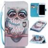 Buy Big Eyes Owl Design Pu Leather Flip Stand Wallet Card Slots Wrist Rope Pouch Cover Case Apple iPhone 7 iPhone7 4.7 Inch