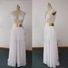 Buy 2016 Real Images Sheer Wedding Dresses V Neck Pearls Gold Belt Chiffon Floor-Length Bridal dhyz 01