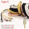 Type C Braid USB Cable Data Sync Fast Charger 1M 2M 3M Braided Cables Samsung Galaxy Note 7 Xiaomi 4c Onplus NEXUS