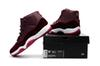 Buy RETRO 11 XI RED VELVET HEIRESS MAROON GOLD mens Basketball Shoes j11 sport shoe sneaker shoes box