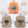Buy Dragon Ball Z Goku bag Legend Zelda Unisex Canvas Zipper leisure backpack children School Travel
