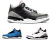 Buy air retro 3 Cyber Monday mens basketball shoes 3s True Blue discount wolf grey sports sneakers size 8-13