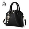 Buy -New fashion women pure color one shoulder bag leather handbags leisure messenger elegant crossbody Z-04