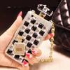 Buy 085 Handmade Bling Rhinestone 3D Long Chain Perfume Bottle Black Phone Protect Back Cover Cellphone Case iPhone 5/5s 6/6 Plus 7/7