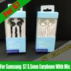 Buy S7 In-Ear Stereo Bass Earphone Headphone 3.5mm Volume control MIC Headset Earbuds Samsung Galaxy S6 Retail Box