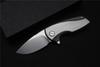 Buy , Malyshev Gnome folding knife pocket outdoor D2 stainless steel blade Ti handle Survival hunting tool