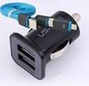 Buy -2-1 Data Cable+Micro Auto 3.1A Car-Charger iPhone 6 5S 4S Xiaomi Redmi Note 2 Lenovo Doogee X5 &Other Phones USB Car Charger