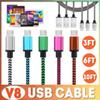 Buy 1M/2M/3M Micro USB Cable Colorful Braided V8 Data Sync 3FT/1M 2M/6FT 3M/10FT Type C Charger Apple New Macbook 12 inch