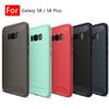 Buy S8 TPU Back Cover Case Galaxy S7 edge Plus Phone Cases Shell Carbon Fibre Drawing Brushed anti-shock