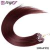 Buy GH Angel 100strands/set 16,18,20,22,26 inch Micro Beads Loop Hair Extensions Remy Human 40g 50g 70g/set 15 Colors Available