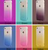 Buy Gradient color Fashion Style Clear TPU Silicone Soft Case Cover Dust Plug Protection iPhone 5S 6 6S 7 Plus Phone Cases