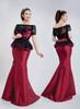 Buy Custom-Made Bateau Short Sleeve Lace Mermaid Evening Dresses Prom Dress