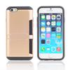 Buy iphone7 Tough Armor Case Silicone pc cases iphone 6 plus 7 7plus 4.7inch 5.5 inch Large capacity Can inserted 5 Cards