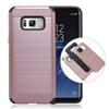 Buy samsung galaxy s8 iphone 7 6 cases Armor Case wire Drawing PC Back Inner TPU