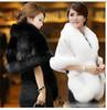 Elegant White Black Burgundy High Neck Faux Fur Wedding Wraps Bridal Shawls Shrugs Free Shipping Wedding Accessories In Stock