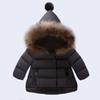 New Arrived Baby Girl Winter Down Coat 2017 Kids Thick Clothing Children Warm Outwear Infant Padded Jacket Beige Red Black Color