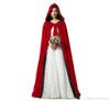 New Red And 10 Colour Lining Velvet Cloak Gothic Vampire Wicca Robe Warm Outdoor Cape Medieval Larp Cosplay Cape Women Wedding Jackets