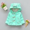 Cola baby girls jacket spring autumn cotton long sleeve children thicken warm coat jacket girls bow hoodie clothing