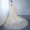 Illusion Floral Genuine OUYAFENGQING Off The Shoulder Sweetheart Neck Appliques Sweep Train 2018 Illusion Tull Wedding Dresses