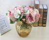 Simulation rose hydrangea bride bridesmaid holding bouquet wedding flowers living room table home vase flower decoration
