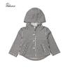 Fashin Kids Baby Boy Girl Autumn Clothes 2019 Brand Stripe Button Hoodie Hooded Tops Sweatshirt Coat Outwear Jacket