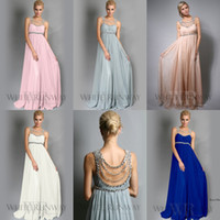 New Jennifer Lopez Pink Chiffon Bridesmaid Dresses 2015 Scoo...