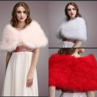 New Arrival Wedding Fur Wraps White Red Pink Faux Fur Shrugs...