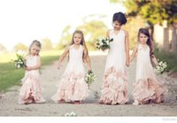 Pageant Dresses For Girls Pink Halter Sleeveless Ball gown F...