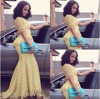 African Fashion Vestido Longo O Neck Short Sleeve Mermaid Fl...
