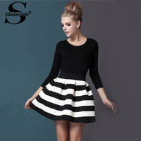 Sheinside New Brand High Street Vestidos New Fashion Black W...