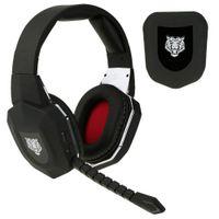 Stereo Professional Gaming Headset fibre optique 2.4G sans fil pour Xbox One / Xbox 360 / PS4 / PS3 / PC Jeu Vidéo Casques avec microphone C2250