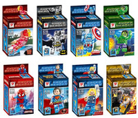 New Super Heroes crystal Building Blocks minifigures figures...