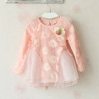 baby girl kids lace crochet embroidery shirt tops blouse flo...