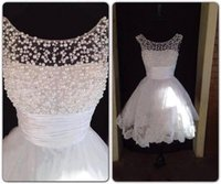 2015 Real Images Homecoming Dresses with Pearls Beateau Neck...