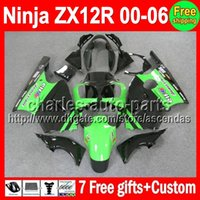 7gifts Stock green For KAWASAKI NINJA ZX12R 00- 06 ZX 12R 00 ...