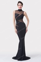 Grace Karin 2015 So Sexy Black Mermaid Sleeveless Milk- Fiber...