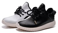 2015 new Yeezy Boost 350 Black White Athletic Women and Men ...