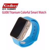 2015 GU08 Titanium Colorful Smart Watch pour Samsung Huawei Xiaomi HTC OPPO BT 4.0 Bracelet Hommes Femmes 10 pcs