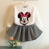 Spring Hot Girls Set Cartoon Minnie Butterfly Tops Tshirts S...