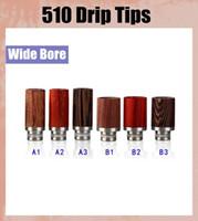510 long bois Drip Conseils Becs acier inoxydable Drip Conseils pour Poseidon Tobh Atty Mods RDA atomiseur cigarette électronique FJ223