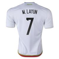 Mexico 2015 M. LAYUN #7 Away White Soccer Jersey Tops, Custom...