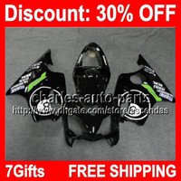 7gifts 8 Ball Black Full Fairing Kit For HONDA CBR600F4i 01-...