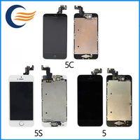 Écran LCD de qualité de Hight Touch Digitizer + écran complet + bouton à la maison + remplacement complet d'assemblage d'appareil-photo pour l'iPhone 5 5S 5C Avec l'expédition de DHL