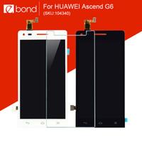 Gros-pour Huawei Ascend G6 affichage LCD avec écran tactile Digitizer 4,5 pouces ORIGINAL NOUVEAU 104340