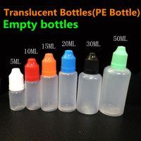E Bouteilles liquides E-Cigarette PE Pointes à aiguille Bouteille à goutte plastique 5ml 10ml 15ml 20ml 30ml 50ml Bouchons à l'épreuve des enfants