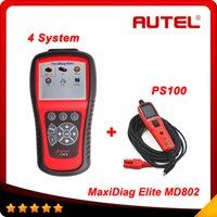 [Authorized Distributor] AUTEL MaxiDiag Elite MD802 4 system...