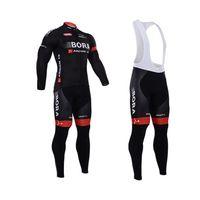 Bora 2015 Cycling Jerseys Set Long Sleeve Padded Bib None Bi...